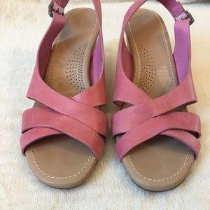 Ugg Shoes Chestnut Suede Callia Wedge Sandal 10 Nwt
